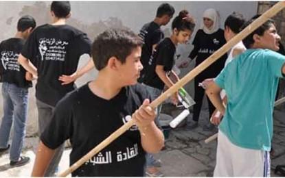 עשרות בני נוער ערבים שיפצו את בית הכנסת העתיק בשפרעם/יוני גבאי