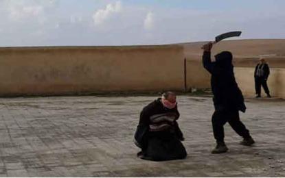 """סוריה: דאעש ערף ראשיהם של 4 גברים ש""""חיללו את שמו של אללה"""""""