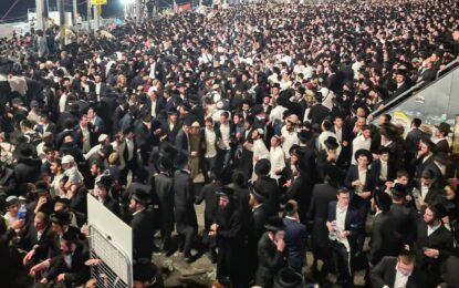 """הילולת הרשב""""י בהר מירון: מאות אלפים השתתפו בחגיגות הענק"""